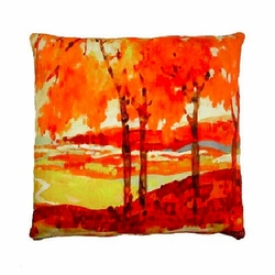 Fall Landscape Outdoor Pillow