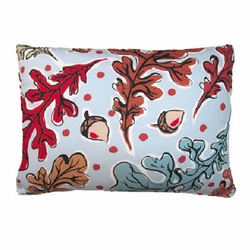 Fall Leaves And Acorns Outdoor Pillow