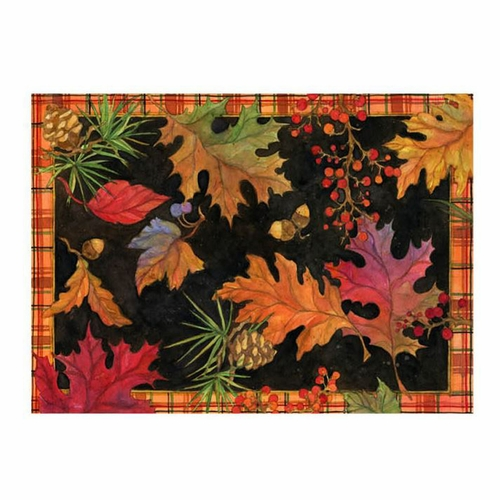 Fall Leaves Blaze Of Glory Outdoor Throw Pillow