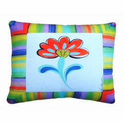 Fine And Dandy Flower Outdoor Pillow