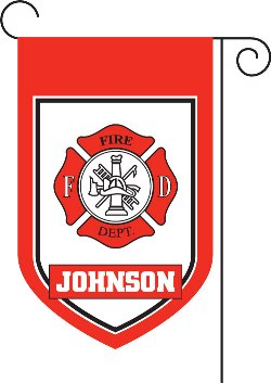 Fire Department Monogram Garden Flag