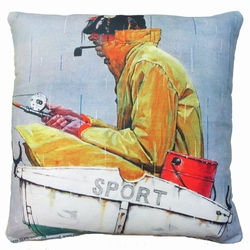 Fisherman Outdoor Pillow