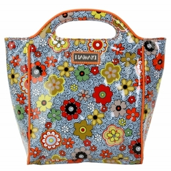 Floral Swirl Insulated Lunch Tote by Hadaki