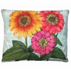Flowers Outdoor Pillow