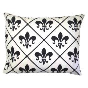 French Quarter White Fluer de lis Patio Pillow