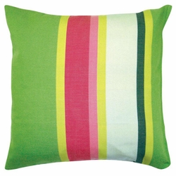 Fresh Lime Stripe Patio Pillow