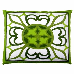 Geometric Green 1 Outddor Pillow