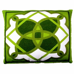 Geometric Green 2 Outdoor Pillow