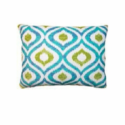 Geometric Ikat Outdoor Pillow