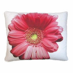 Gerbera Large Pink Flower Patio Pillow
