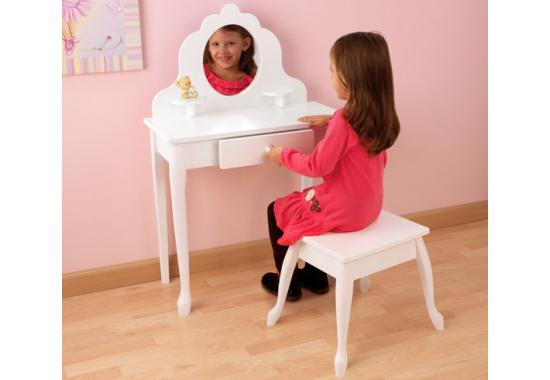 Medium Diva Vanity Table And Stool In Pink Or White Kk Out Of Stock