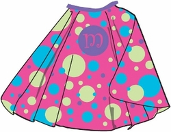 Girlie Polka Dot Personalized Kids Cape