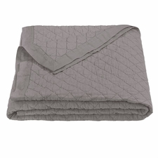 Gray Diamond Linen Quilt