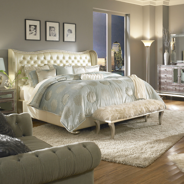 Harlington Luxury Bedding Set Michael Amini Bedding Collection By - Kanes furniture bedroom sets