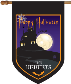 Haunted Halloween House Flag