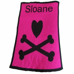 Heart and Crossbones Baby Blanket