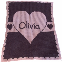 Heart with Banner Blanket