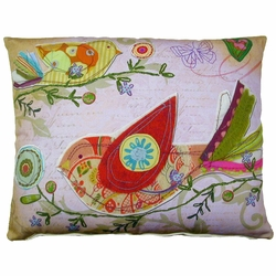 Heartstrings Birds Outdoor Pillow