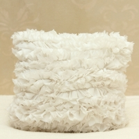 Heavenly Ruffled Decorative Pillow