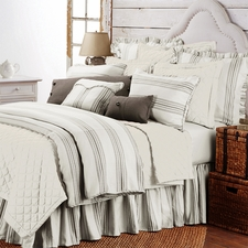 3 pc Taupe Prescott Stripe Duvet Set