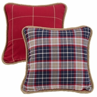 South Haven Reversible Plaid Pillow