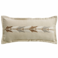 Belmont Embroidered Linen Accent Pillow