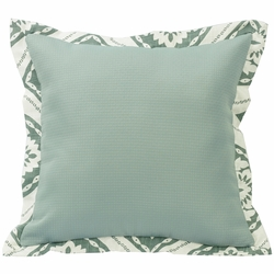 Belmont Textured  Fabric Pillow with Graphic Print Flange