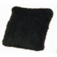 Black Mink Faux Fur Pillow