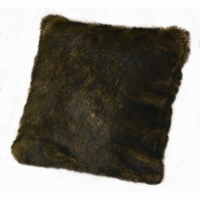 Brown Mink Faux Fur Pillow