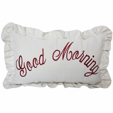 Good Morning Embroidery Pillow