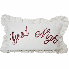 Good Night Embroidery Pillow