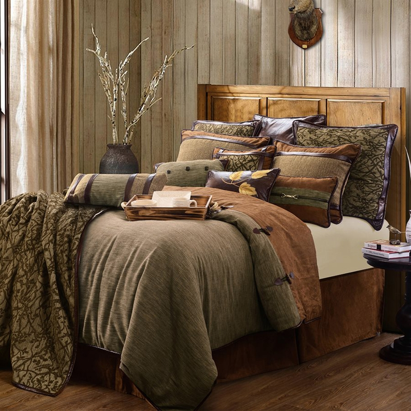 hiend accents highland lodge comforter set  twin  full  queen and king size