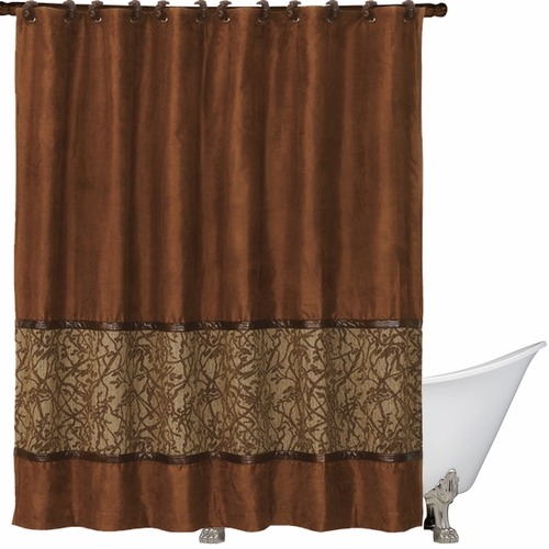 Perfect HiEnd Accents Highland Lodge Shower Curtain