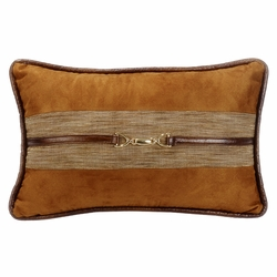 Highland Lodge Suede Pillow With Buckle Detail