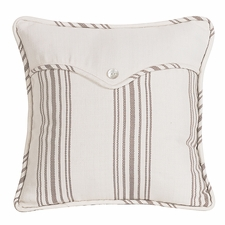 Prescott Taupe Linen Envelope Accent Pillow