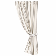 Prescott Taupe Stripe Curtain