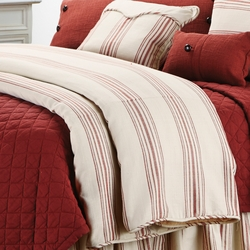 Red Prescott Stripe Duvet