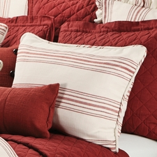 Red Prescott Stripe Pillow Shams