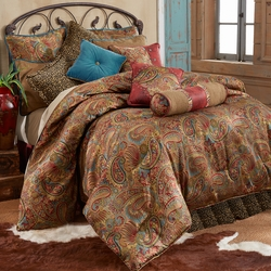 San Angelo Comforter Set With Leopard Bedskirt