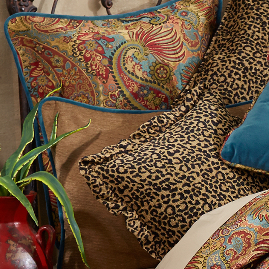 hiend accents san angelo comforter set with leopard bedskirt