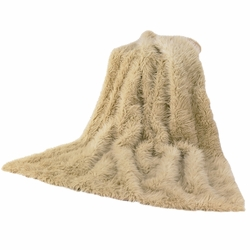 Sheep Faux Fur Throw