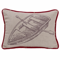 South Haven Printed Rowboat Pillow
