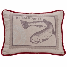 South Haven Printed Trout Pillow