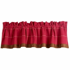 South Haven Red Window Pane Valance