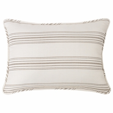 Taupe Prescott Stripe Pillow Shams