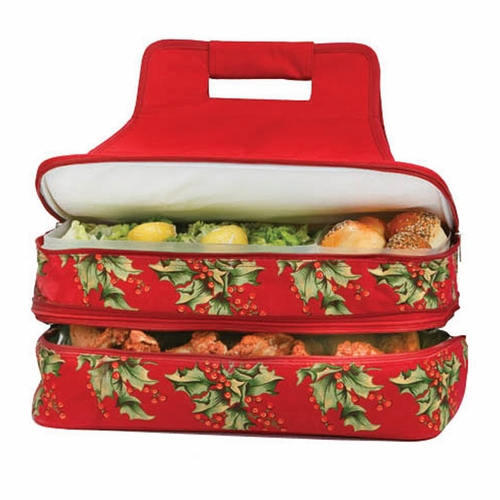 April Cornell Holly Entertainer: Hot & Cold Food Carrier and Casserole  Carrier