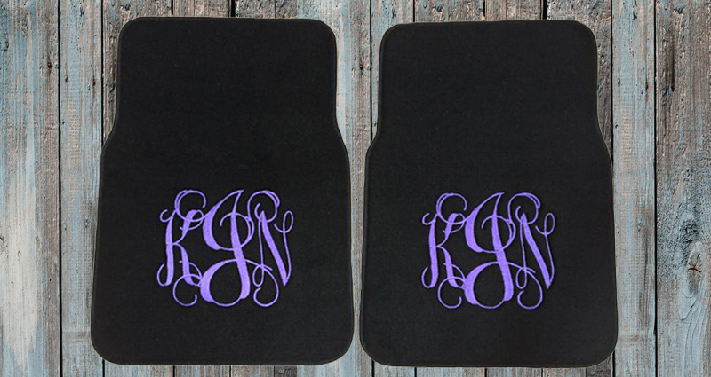 Personalized Car Mats, Monogrammed Car Mats and Custom Floor Mats