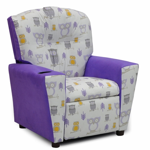 Terrific Hooty Wisteria Twill Plum Suede Kids Recliner Ncnpc Chair Design For Home Ncnpcorg