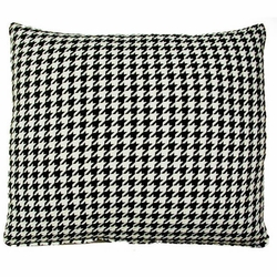 Houndstooth Black Outdoor Pillow