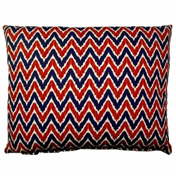 Ikat Chevron Outdoor Pillow
